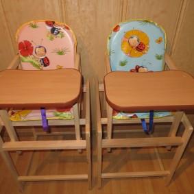 детский деревянный стульчик виды