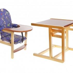 детский деревянный стульчик декор