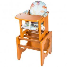 детский деревянный стульчик декор фото