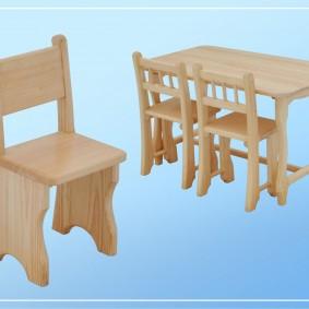 детский деревянный стульчик идеи декор
