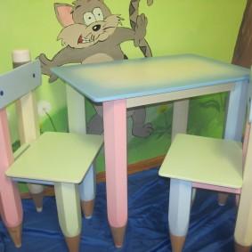 детский деревянный стульчик фото интерьер