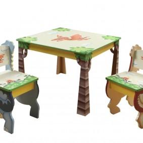 детский деревянный стульчик идеи интерьера