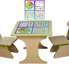 детский деревянный стульчик оформление