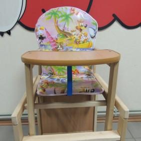 детский деревянный стульчик идеи оформления