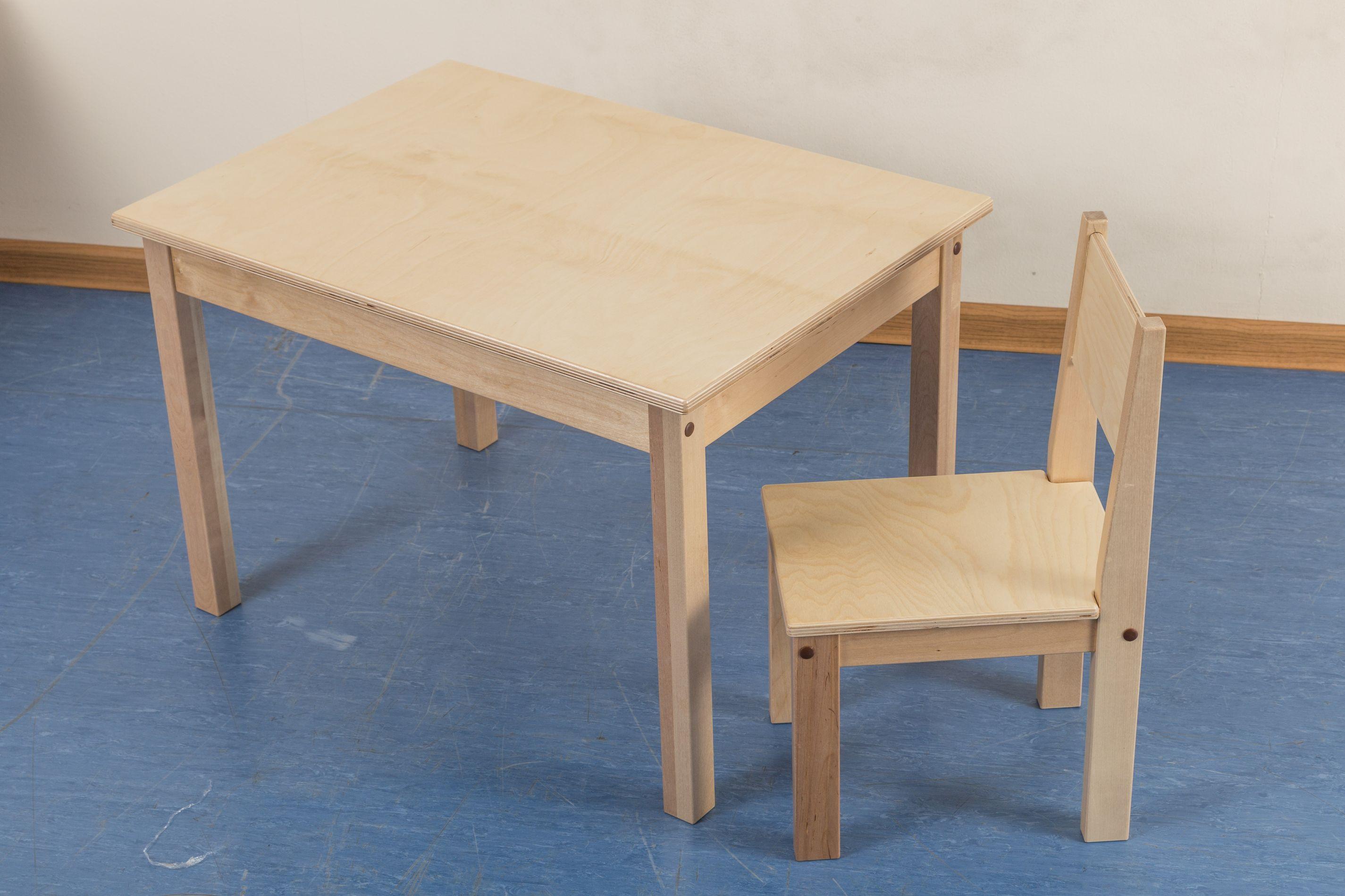 детский деревянный стульчик береза