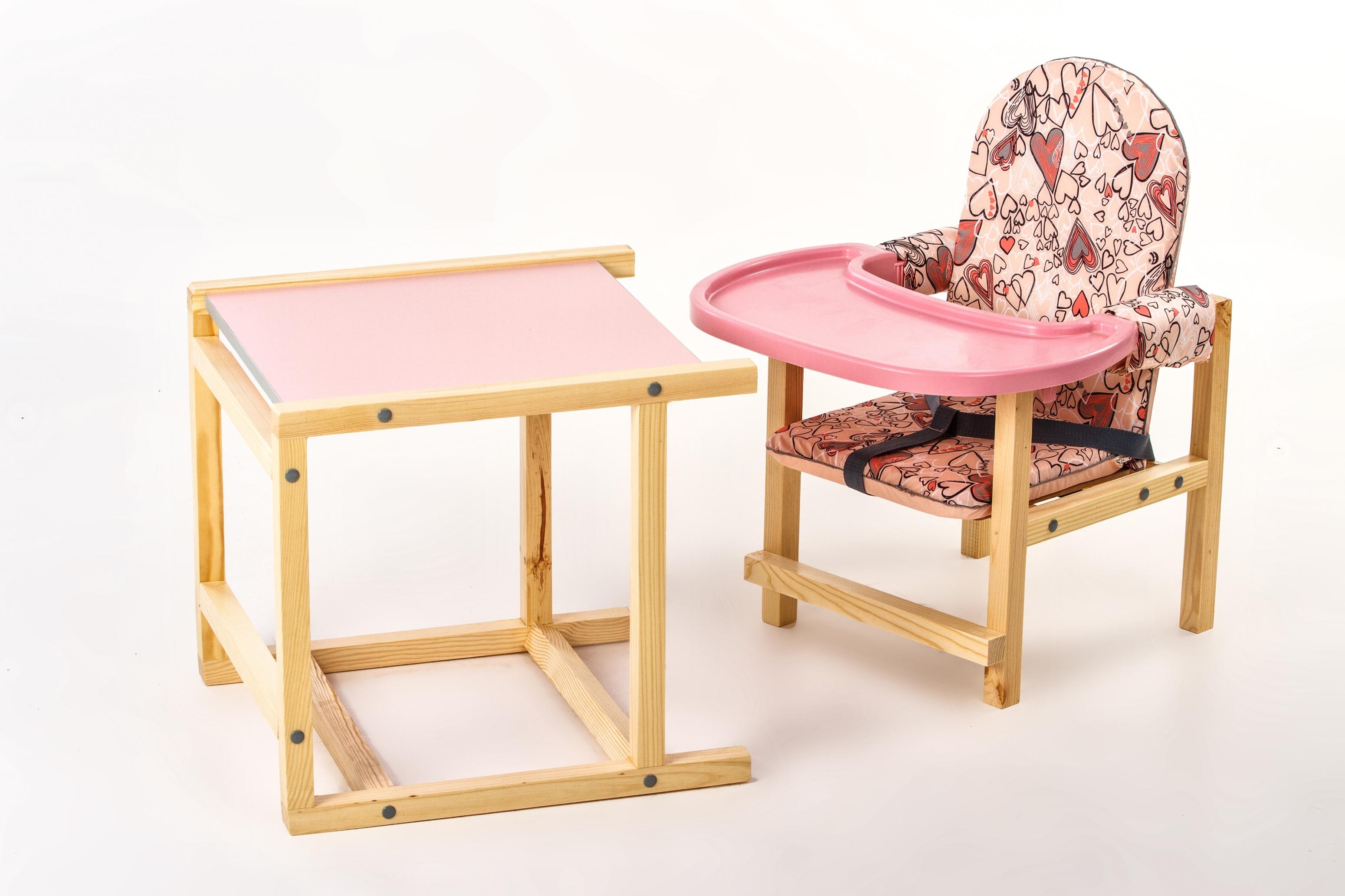 детский деревянный стульчик мягкий