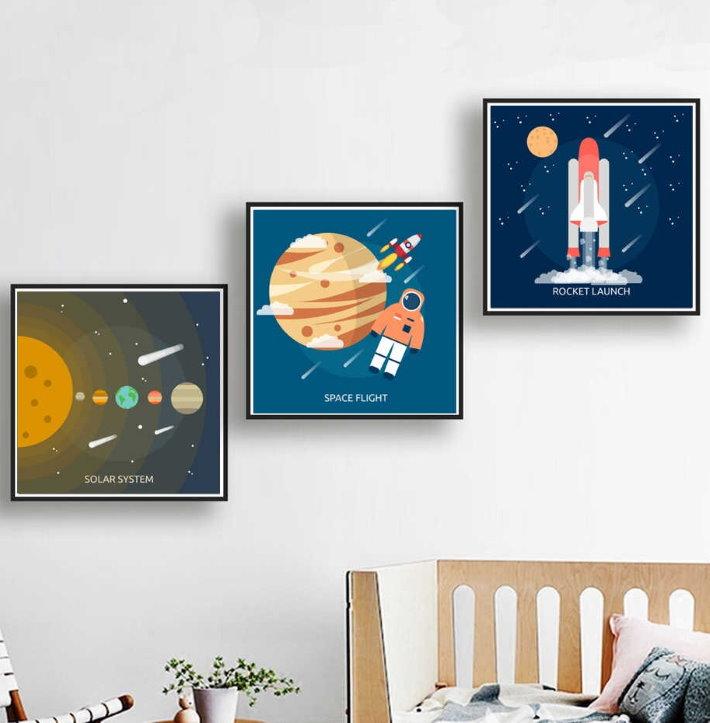 Постеры на космическую тематику в комнате ребенка