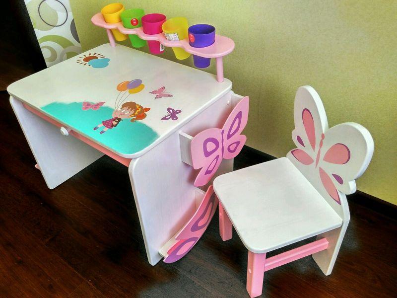 детский складной стол для девочки