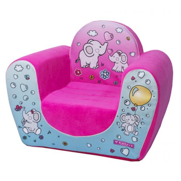 Игровое кресло с пенополиуретановым наполнителем для девочки