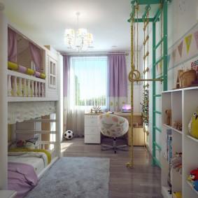дизайн детской комнаты 14 кв