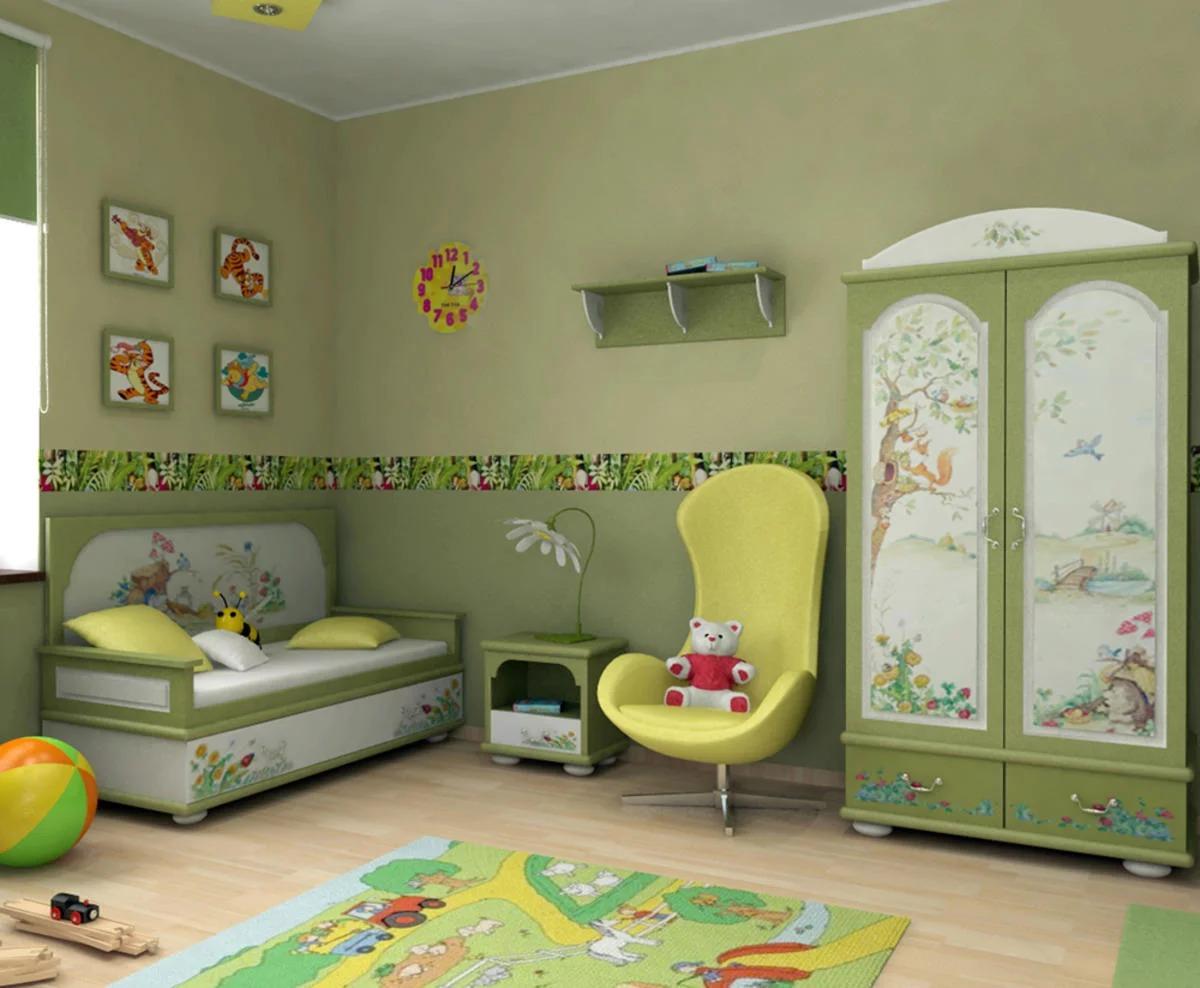 расстановка мебели в детскй