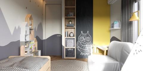 дизайн детской комнаты освещение