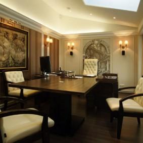 дизайн кабинета мебель