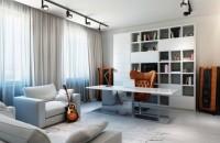 дизайн интерьера кабинета пол стены потолок