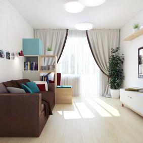двухкомнатная квартира распашонка фото декор