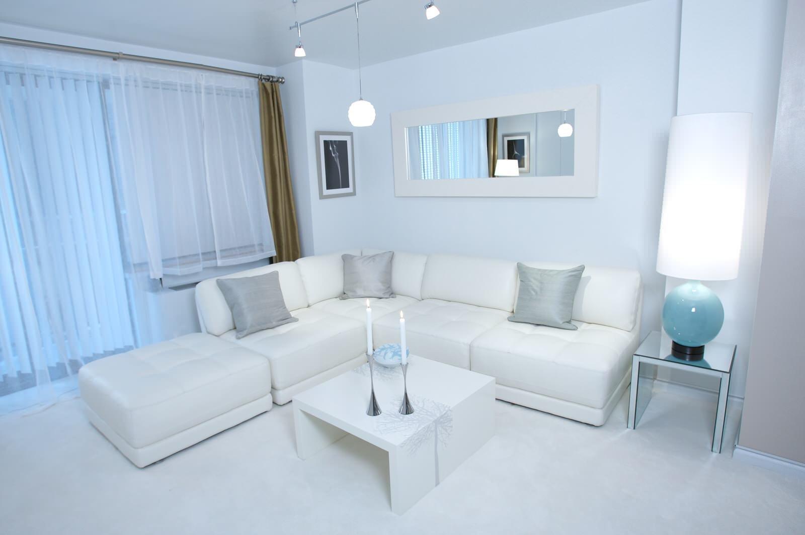 дизайн квартиры в белом цвете