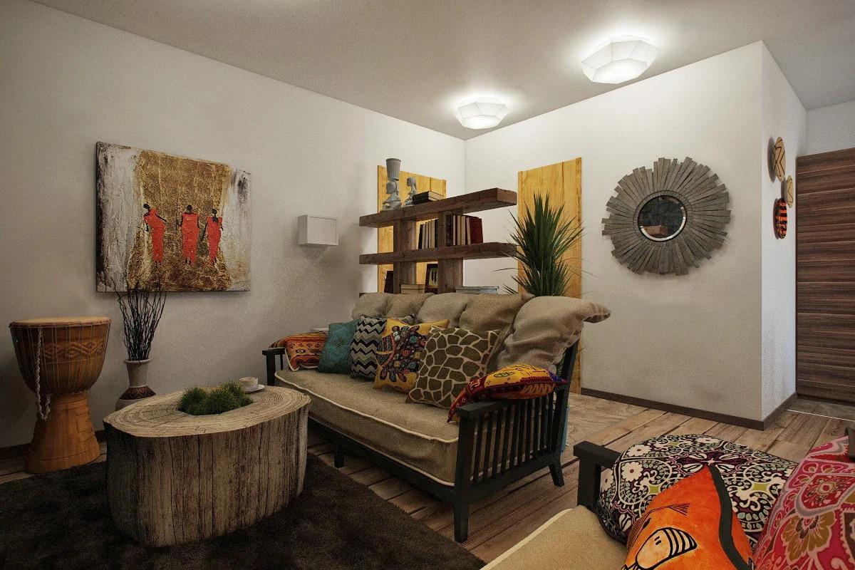 африканский стиль квартиры