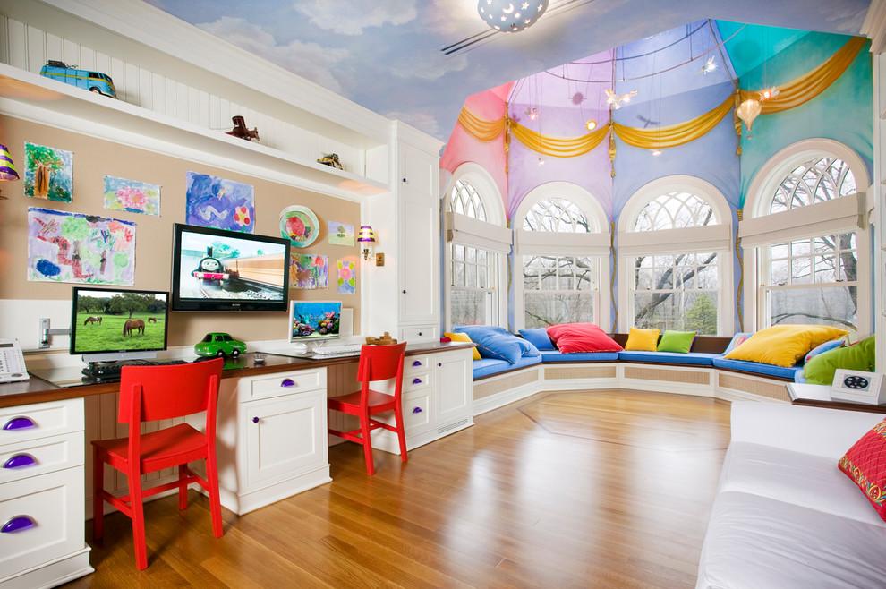 детская игровая комната дизайн потолка