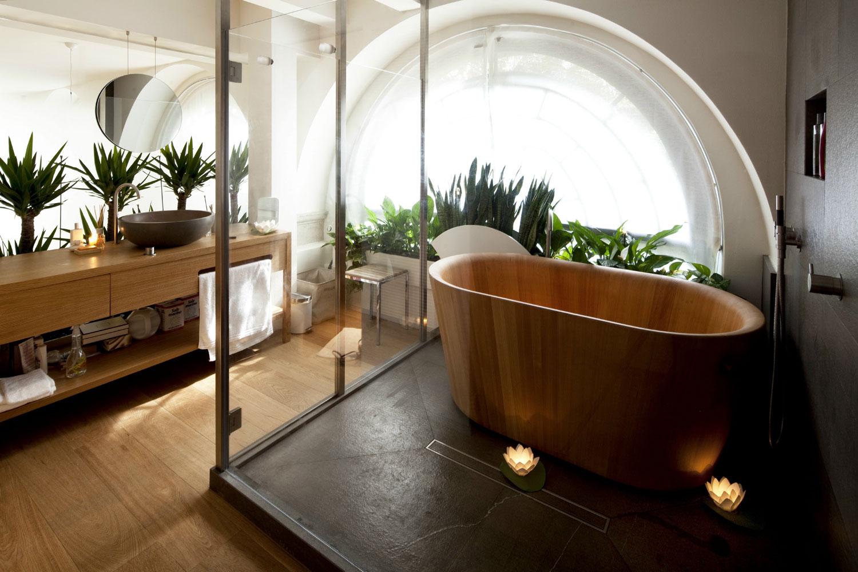 деревянная японская ванна