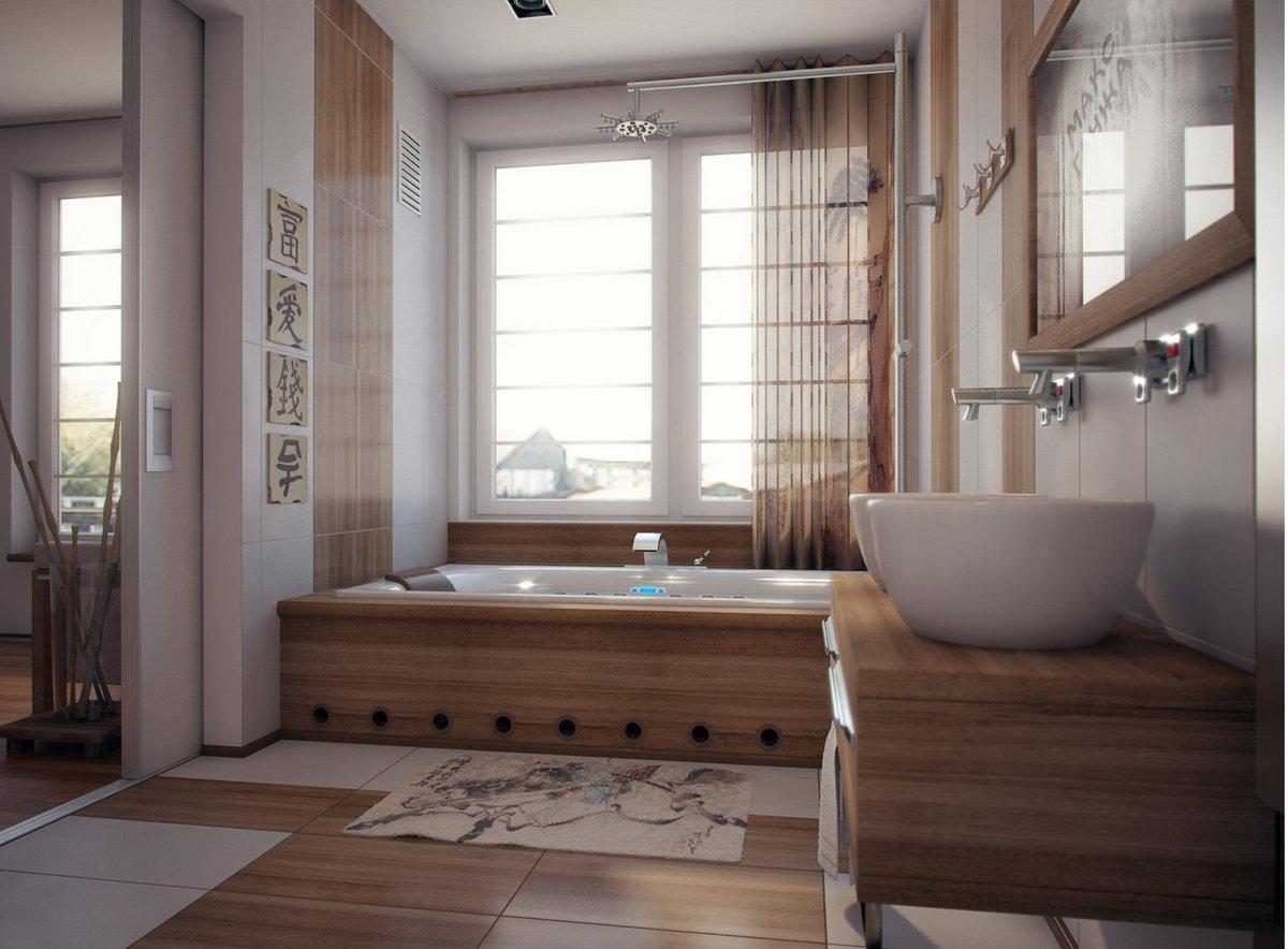 идеи дизайна ванной в японском стиле