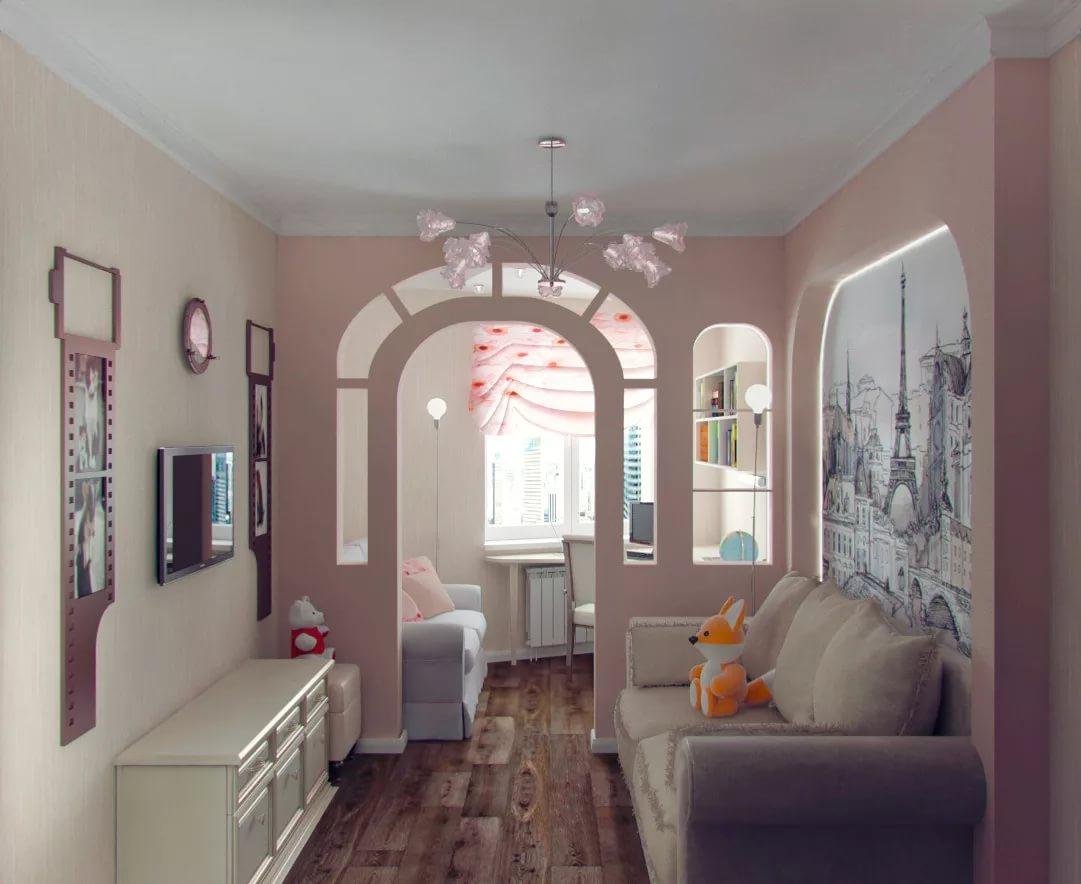 дизайн интерьера детского уголка арка