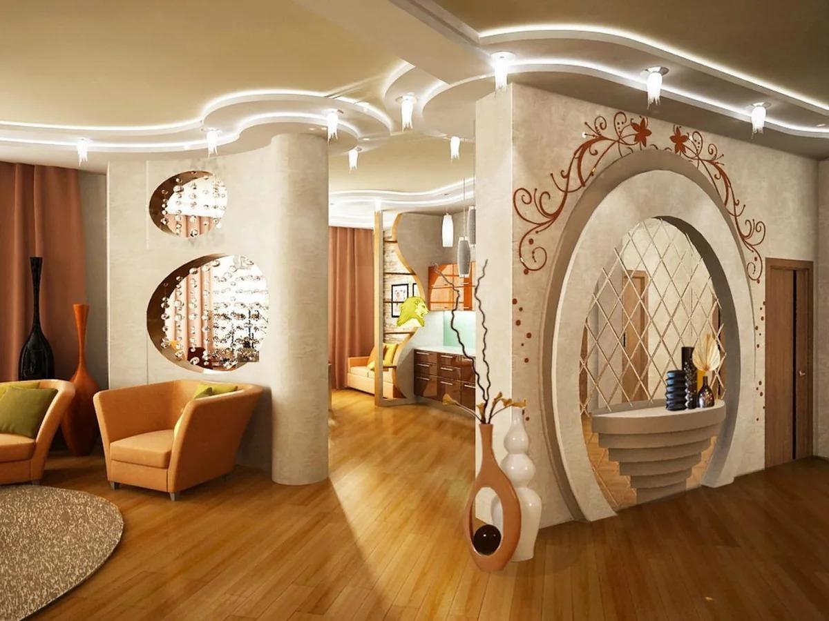 Потолки арками дизайн фото