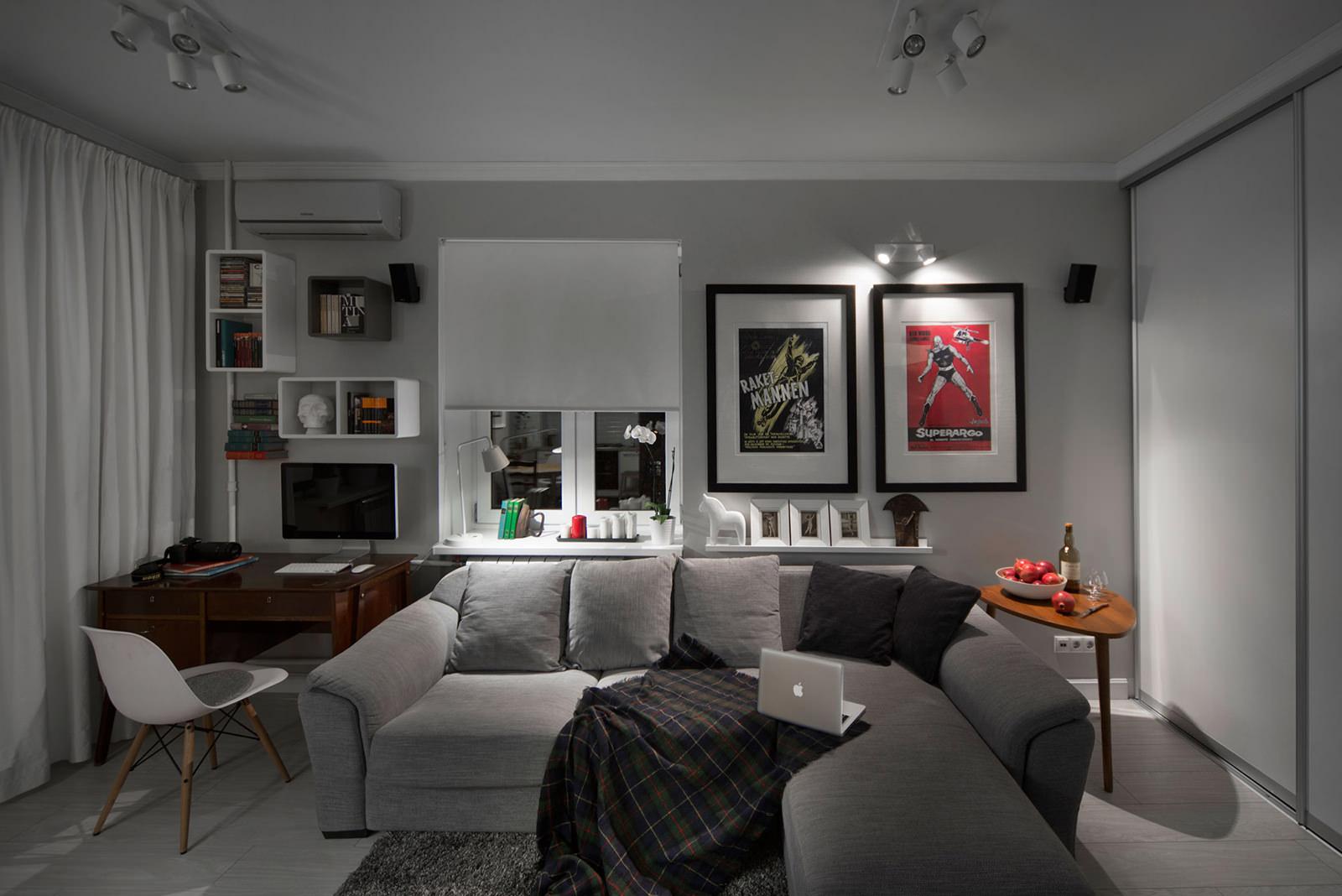 двухкомнатная квартира рабочая зона
