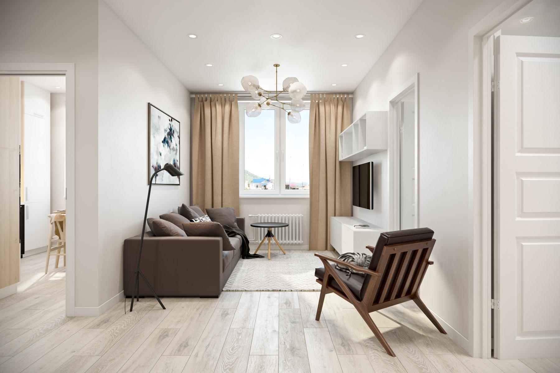 двухкомнатная квартира скандинавский стиль