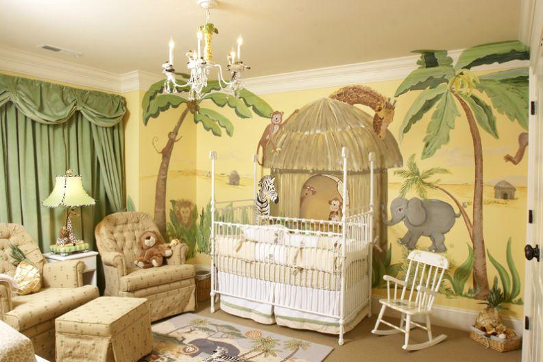 Интерьер комнаты для мальчика в стиле джунглей