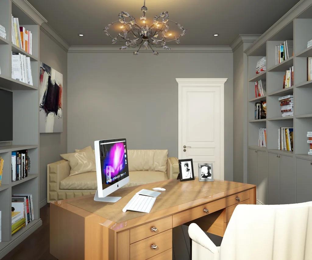 дизайн кабинета цвет стен