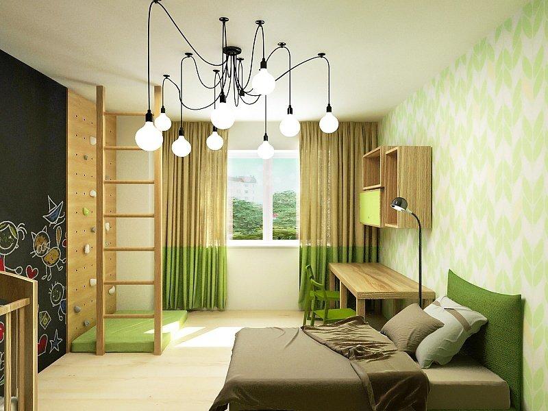 Деревянная мебель в спальне мальчика