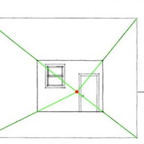 Рисование эскиза способом сходящих точек