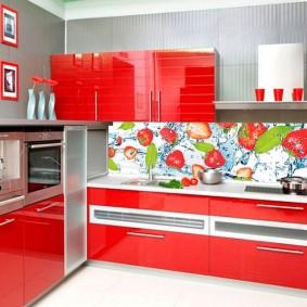 фартук для кухни из мдф фото декор
