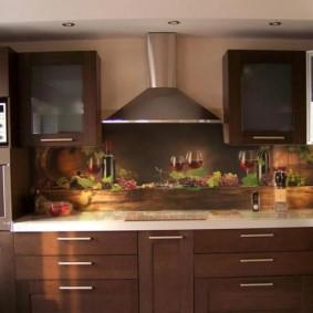 фартук для кухни из мдф фото декора