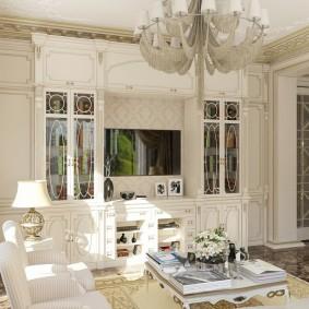 Деревянная мебель белого цвета