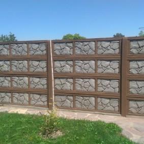 Садовый забор из железобетонных панелей
