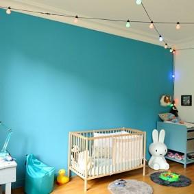 Акцентная стена детской комнаты