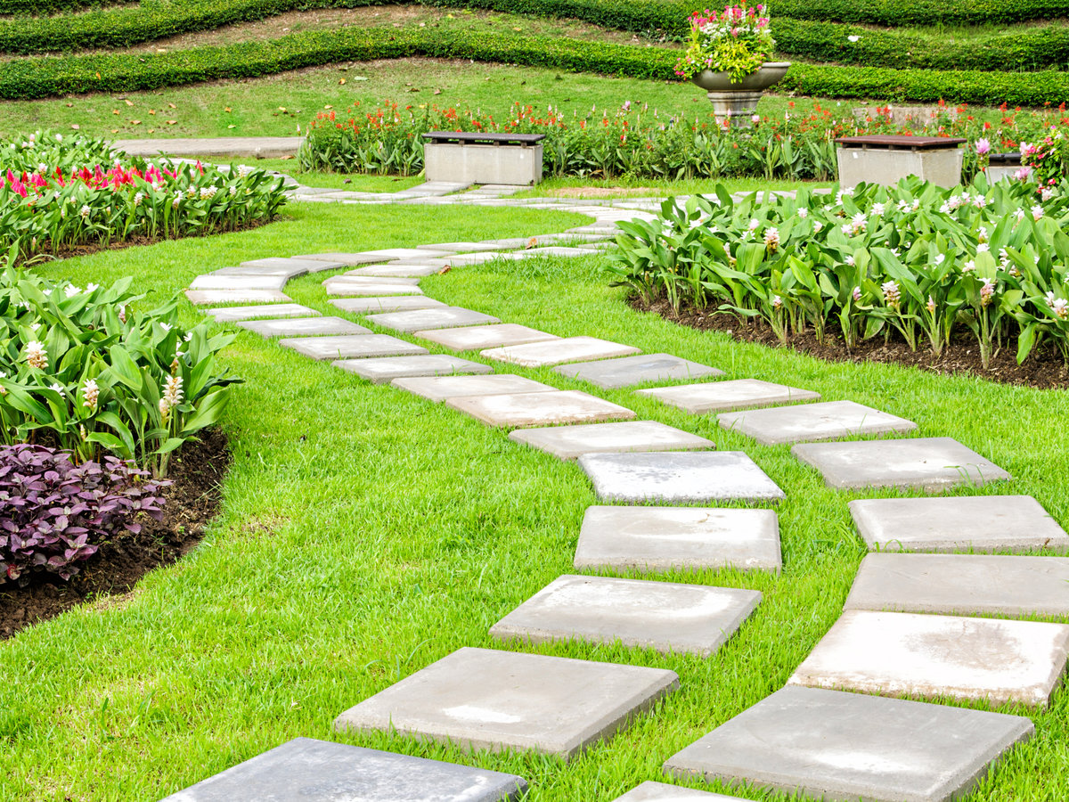 фото как красиво оформить дорожки на огород того