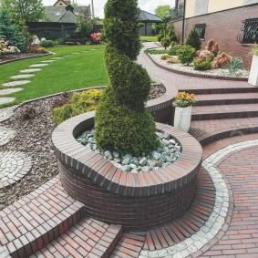 Садовые дорожки и лестницы из клинкерного кирпича
