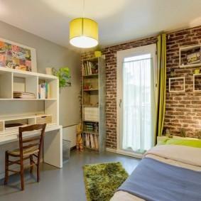 Стильная комната для мальчика школьника