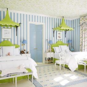 Современная комната для двух девочек