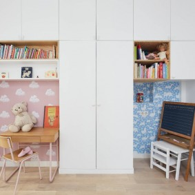 Детская мебель с белыми фасадами