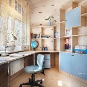 Голубые фасады детской мебели