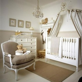 Безворсовый коврик в детской спальне