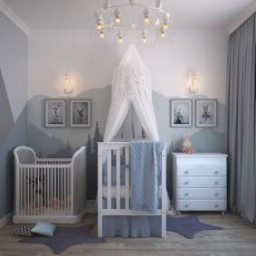 Освещение комнаты для маленького мальчика