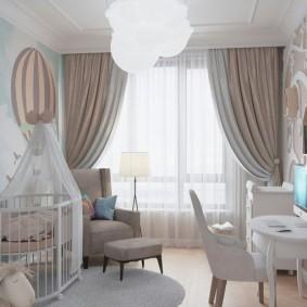 Дизайн детской спальни для самых маленьких