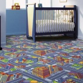Модный ковролин для комнаты мальчика