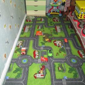 Детский ковролин с игровым рисунком