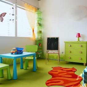 Игровая мебель в спальне ребенка дошкольного возраста