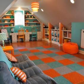 Кресло-мешок оранжевого цвета